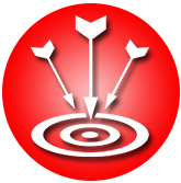 Arrow and Target Icon